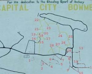 Capitol City Bowmen Trail Map